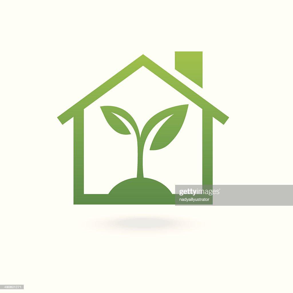 Eco house concept green