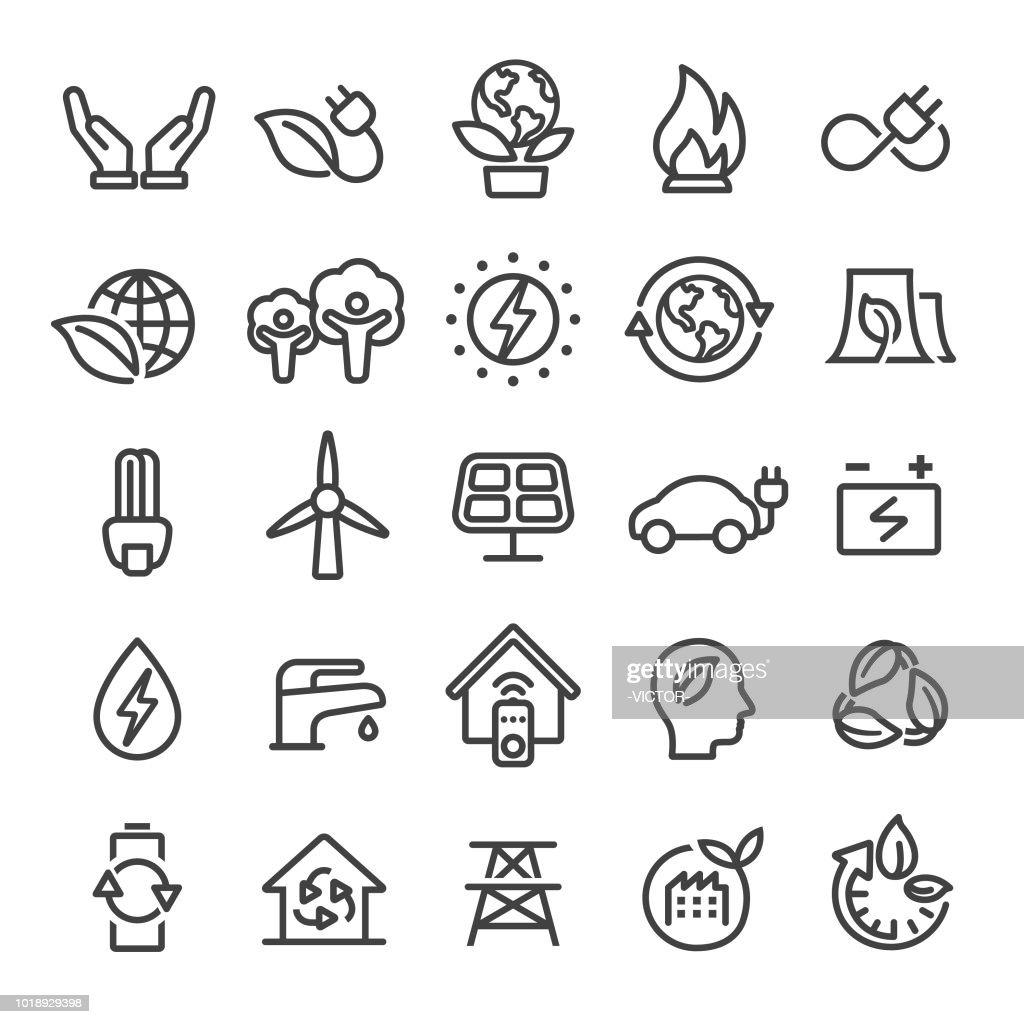 Eco Icons - Smart Line Series : stock illustration