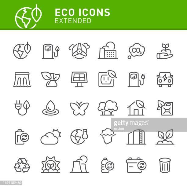 eco icons - biodiesel stock illustrations, clip art, cartoons, & icons