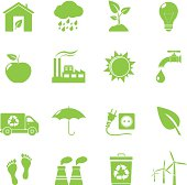 Eco Icons - Vector illustration