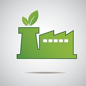 Eco industry Real Estate icon. Vector design