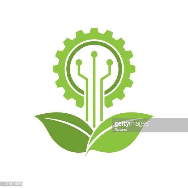 illustrazioni stock, clip art, cartoni animati e icone di tendenza di ecoin industria - risorse sostenibili