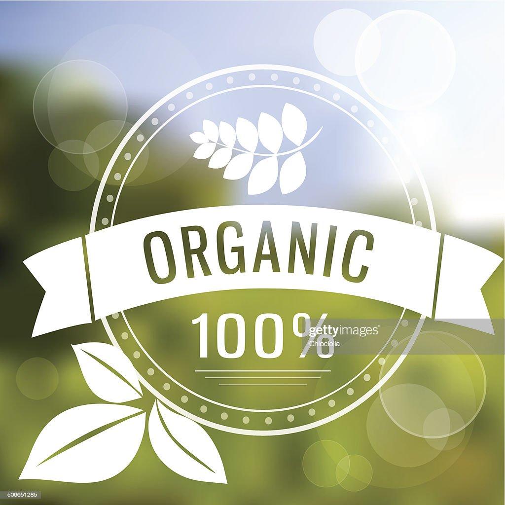 Eco logo on blured background
