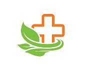 Eco Medical Symbol Template Design Vector, Emblem, Design Concept, Creative Symbol, Icon