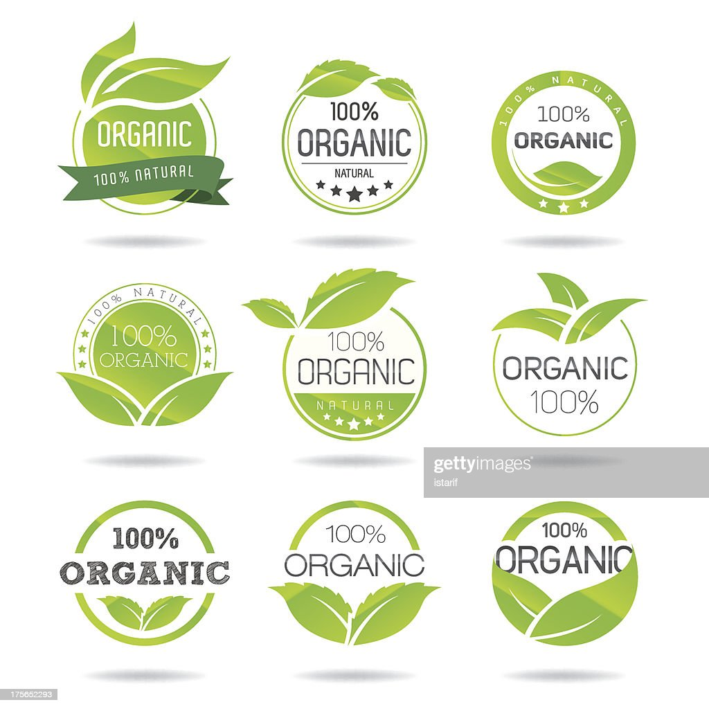 Eco, Organic Icons Set