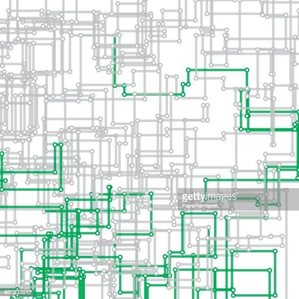 Eco Tec Vektor rechteckige Schaltung Linienmuster