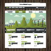 Eco Website Design with wood texture.