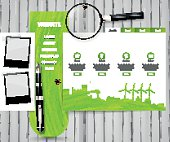Eco Website Design with wood texture.