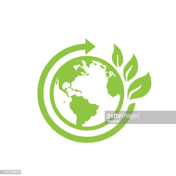 エコワールドコンセプト - 環境問題点のイラスト素材/クリップアート素材/マンガ素材/アイコン素材