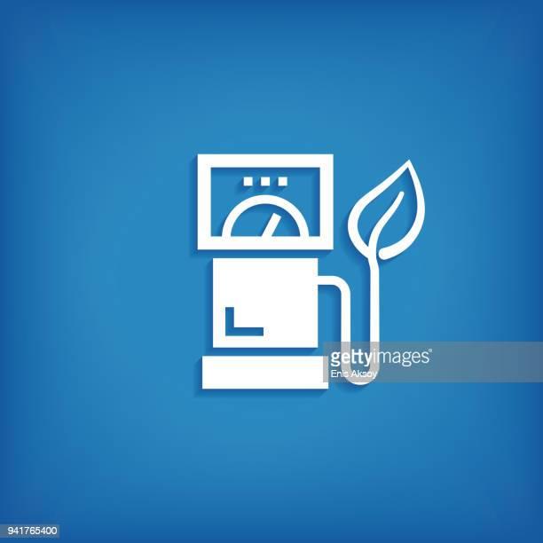 ecofuel icon - biodiesel stock illustrations, clip art, cartoons, & icons