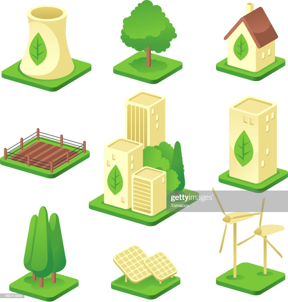 Ecologic city Green Environmental Built Structure Nature Energy Power Generation