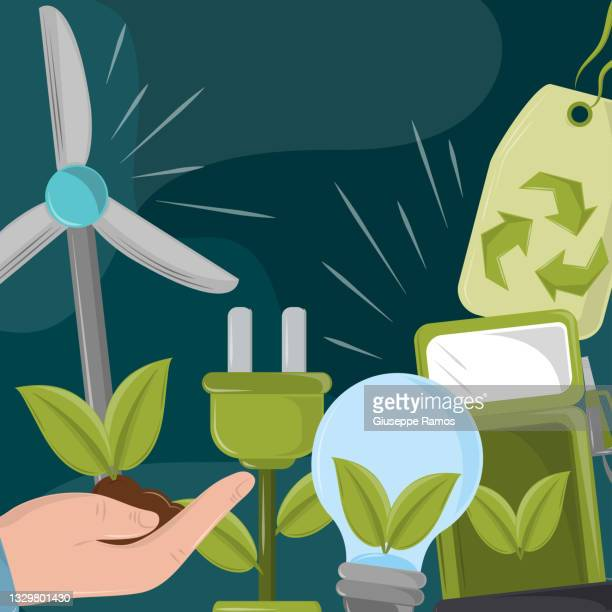 ecological green energy concept