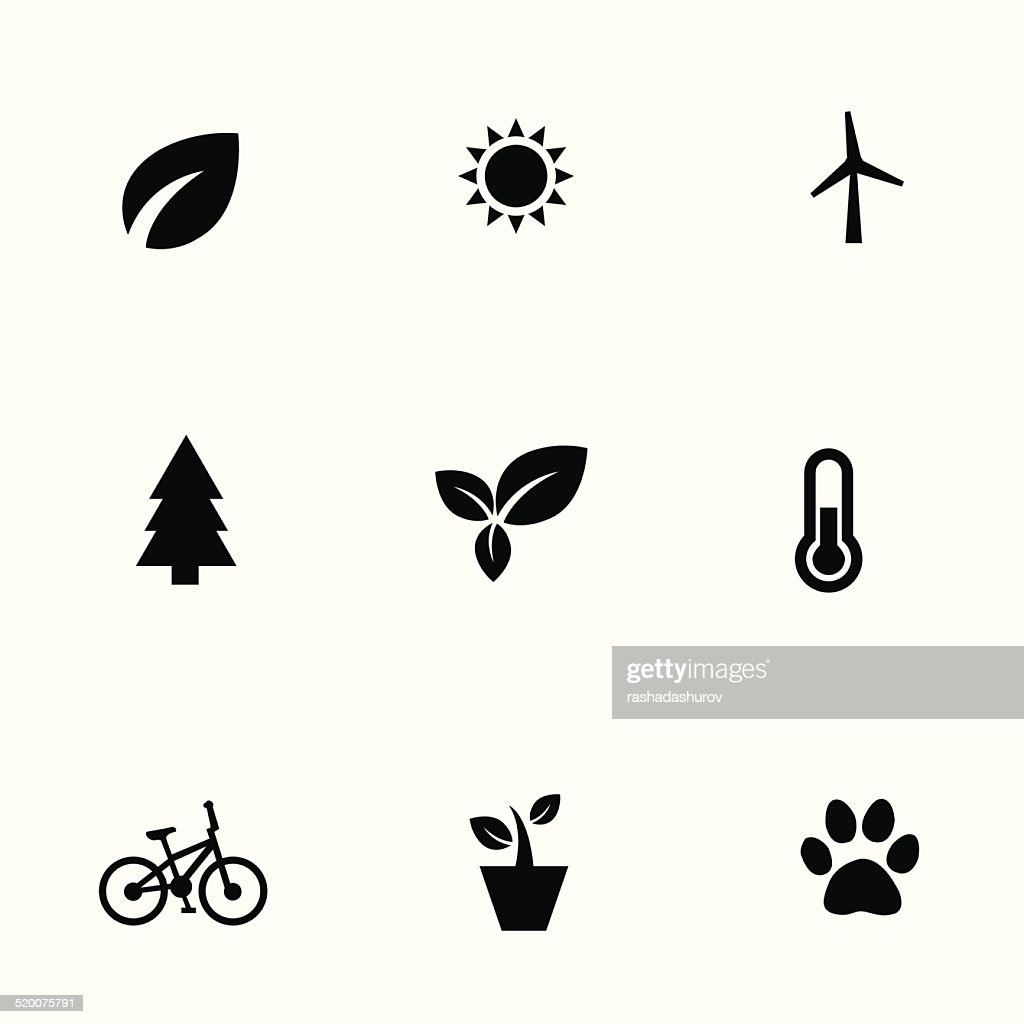ecology 9 icons set