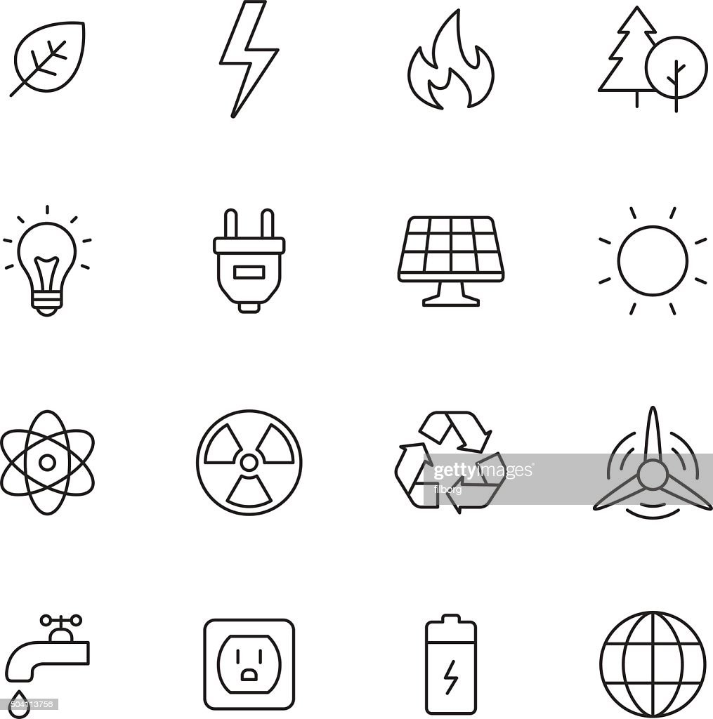 Ecology and Energy Icons