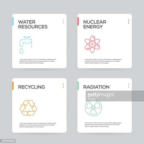 Ecology and Energy Infographic Design Template