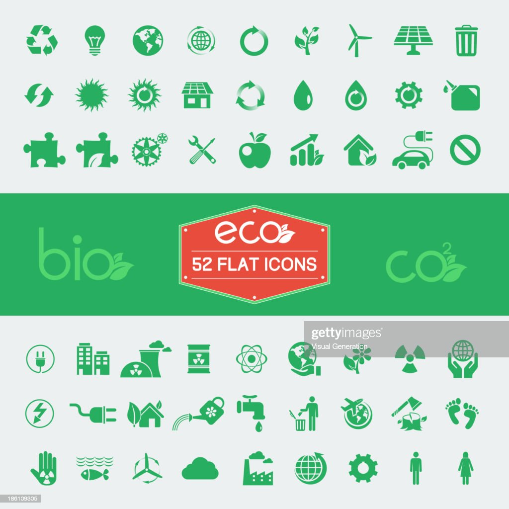 Ecology Flat Icon Set