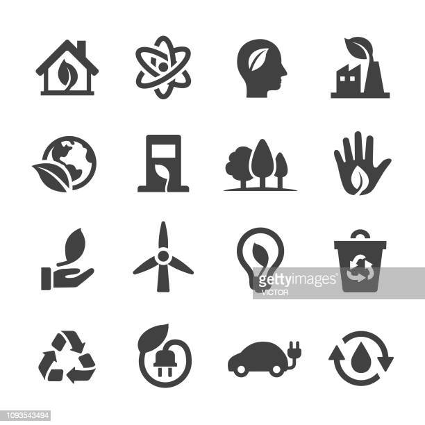 ecology icons - acme series - environment stock illustrations