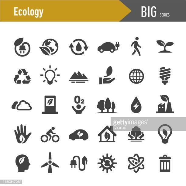 bildbanksillustrationer, clip art samt tecknat material och ikoner med ekologi ikoner-stor serie - förnybar energi
