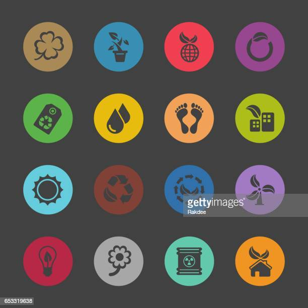 Ecology Icons - Color Circle Series