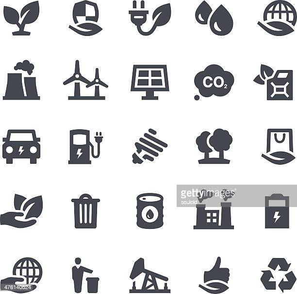 ecology icons - climate stock illustrations