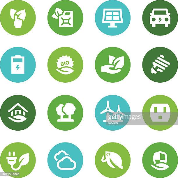 ecology icons - biodiesel stock illustrations, clip art, cartoons, & icons