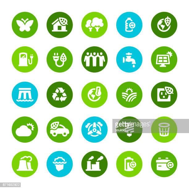 エコロジーアイコン - 気候点のイラスト素材/クリップアート素材/マンガ素材/アイコン素材