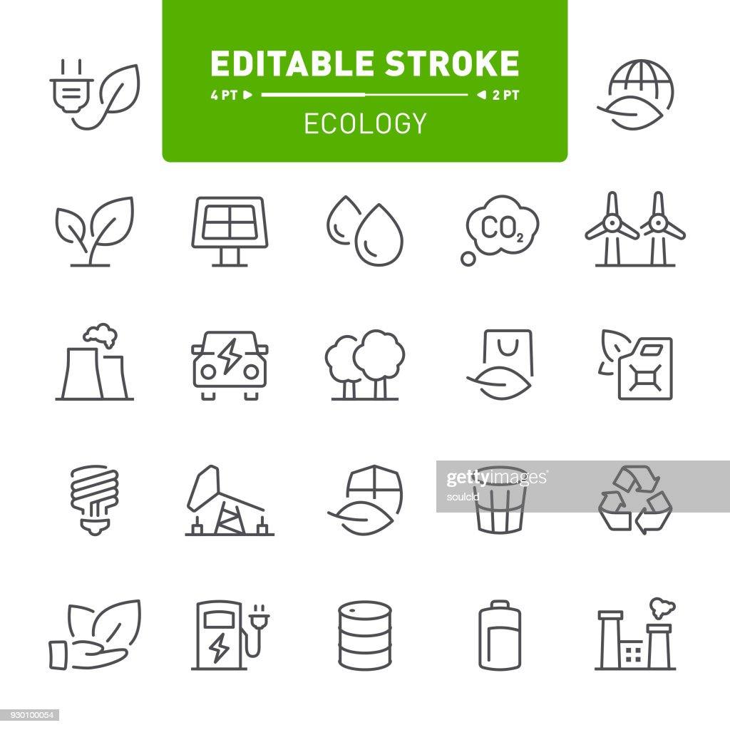 Ekologi ikoner : Illustrationer