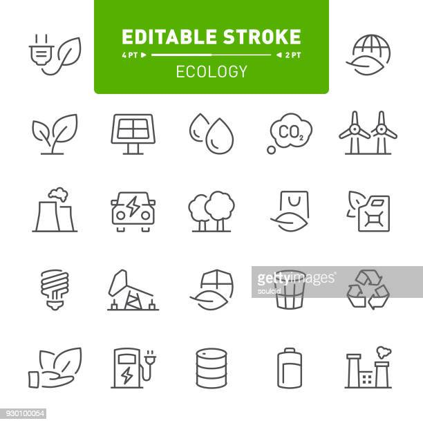ecology icons - environment stock illustrations
