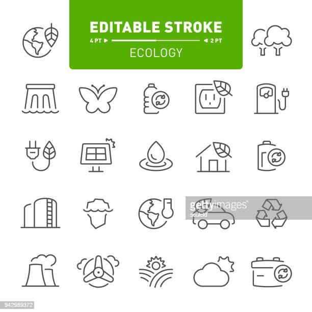 ilustraciones, imágenes clip art, dibujos animados e iconos de stock de ecología iconos  - vehículo eléctrico