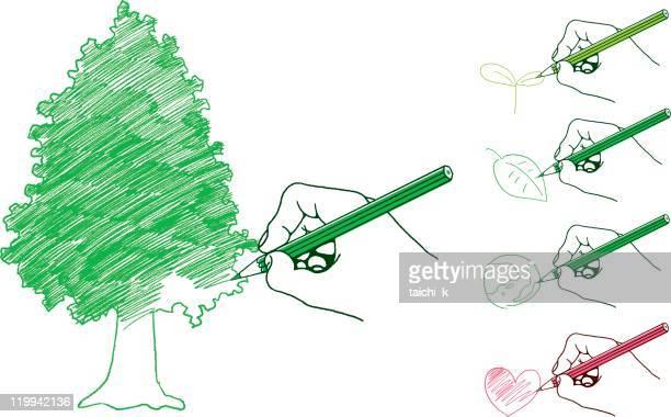 エコロジー画像図面 - 環境問題点のイラスト素材/クリップアート素材/マンガ素材/アイコン素材