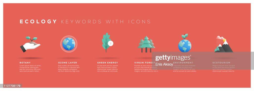 アイコンと生態学キーワード : ストックイラストレーション