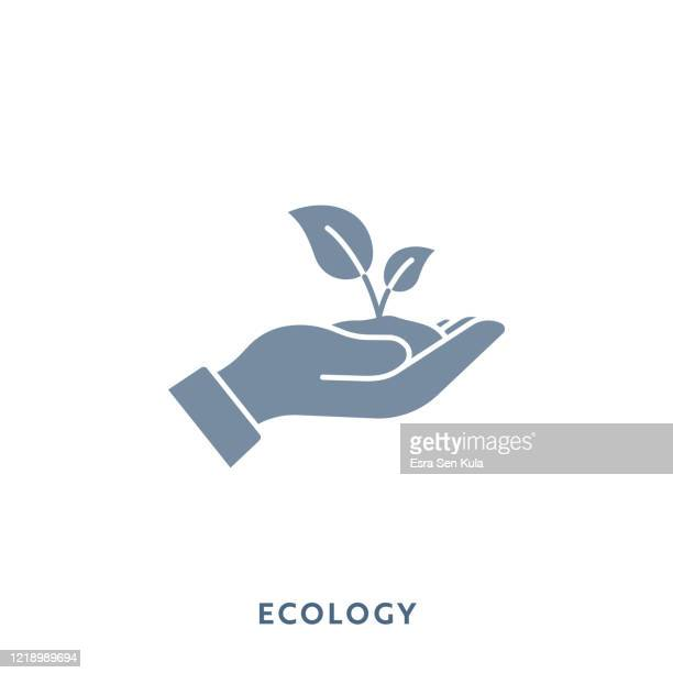 illustrazioni stock, clip art, cartoni animati e icone di tendenza di icona piatta monocolore ecologia. pixel perfetto. - risorse sostenibili