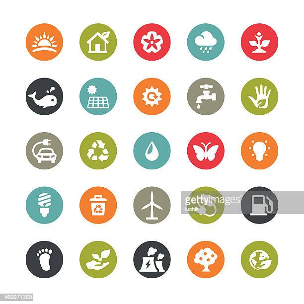 Ecology related vector icons / Ringico series