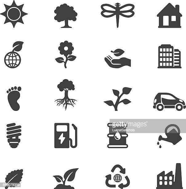 Ecology Silhouette 20 icons | EPS10