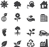 Ecology Silhouette icons | EPS10