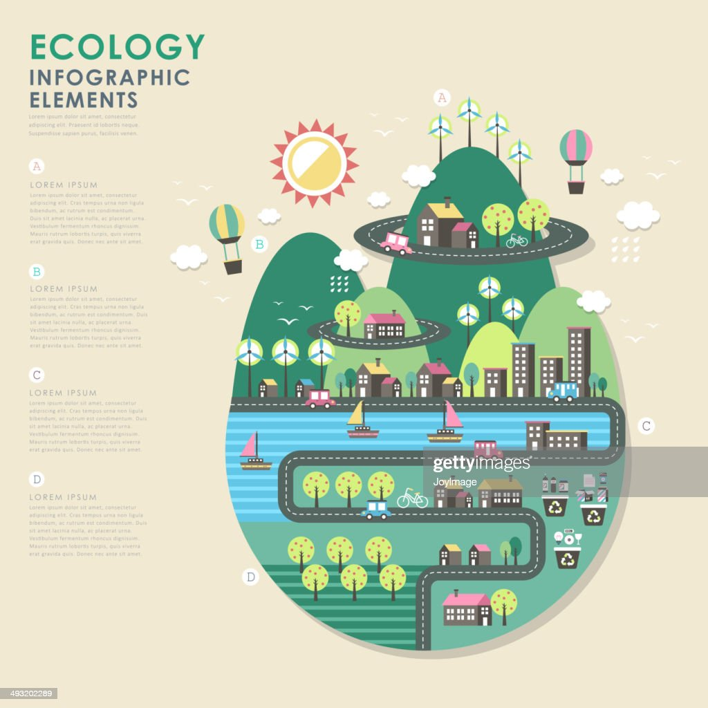ecology vector illustration infographics