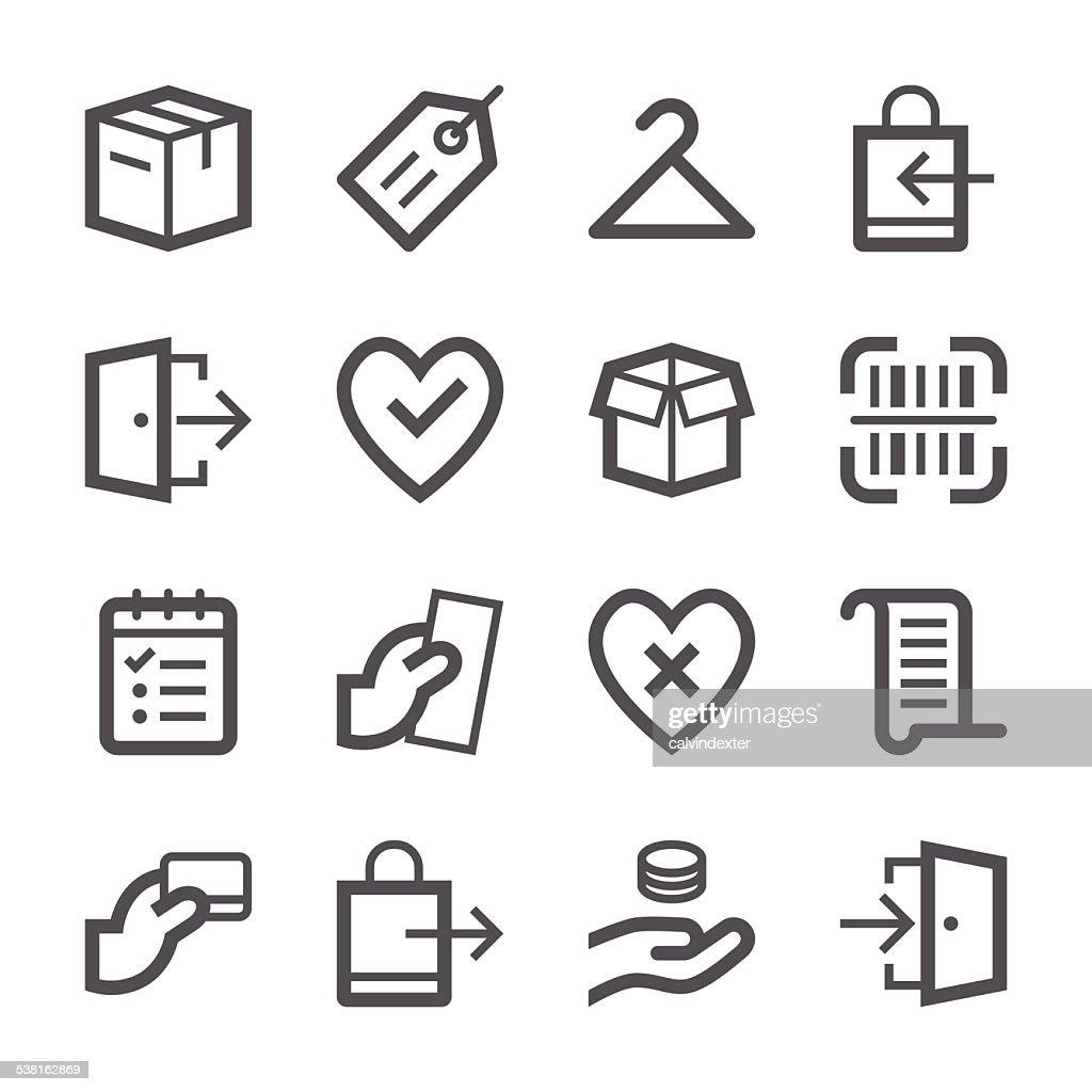 E-Commerce et Shopping icônes set 2/série de bordure : Illustration