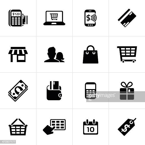 e-commerce and shopping icons - american one dollar bill stock illustrations, clip art, cartoons, & icons