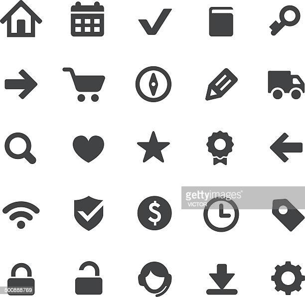 e-commerce and web icons - smart series - small stock illustrations