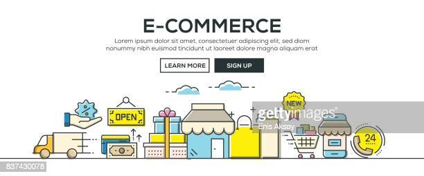 E-Commerce banner and icons
