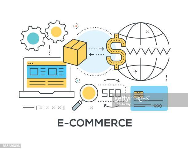 E-Commerce Concept with icons