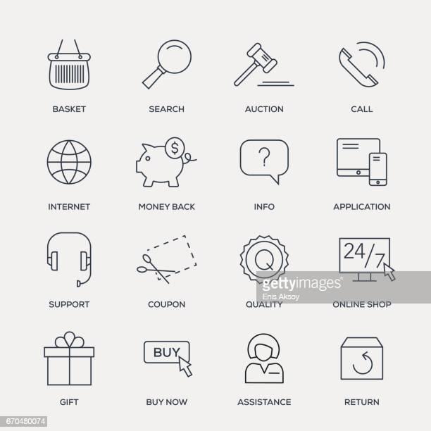 E-Commerce Icon Set - Line Series
