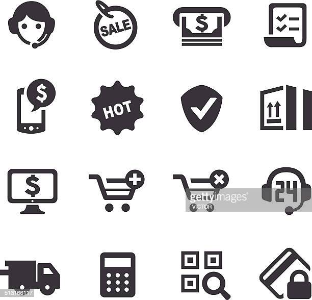 e-commerce icons - acme series - ordering stock illustrations, clip art, cartoons, & icons