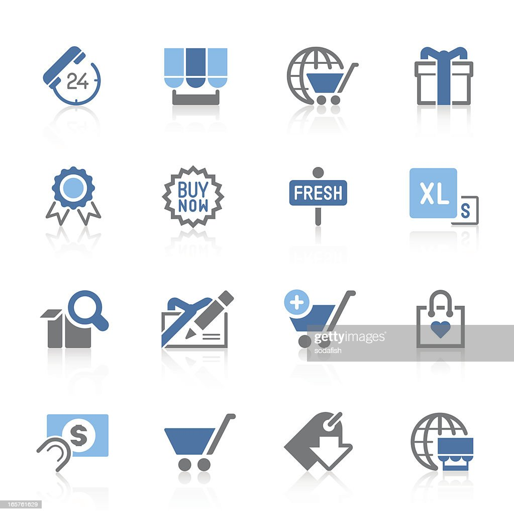 e-commerce icons | azur series