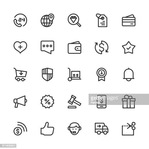e コマース アイコン - ライン シリーズ - 通知アイコン点のイラスト素材/クリップアート素材/マンガ素材/アイコン素材