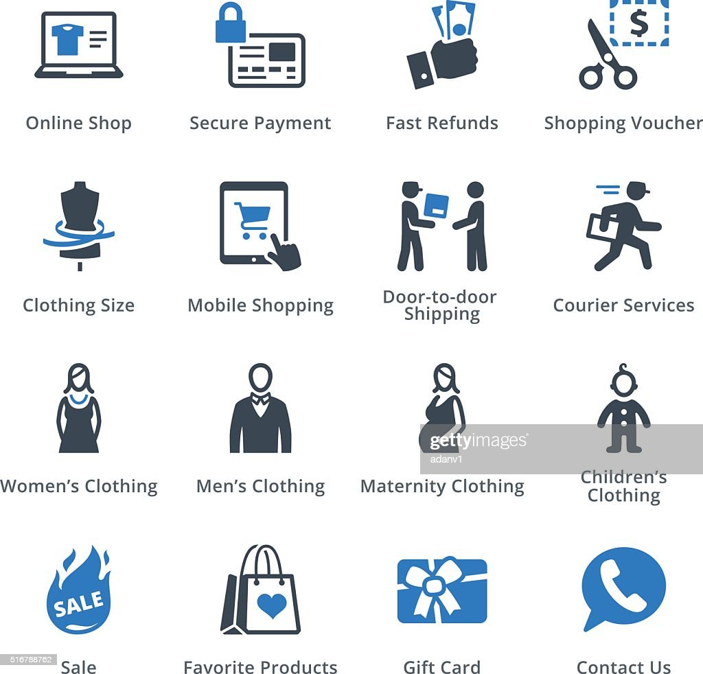 E-commerce Icons Set 1 - Blue Series