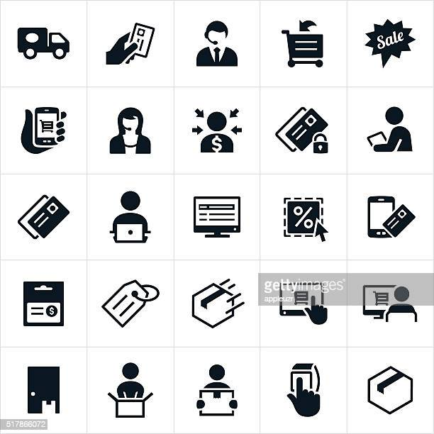 ecommerce icons - ordering stock illustrations, clip art, cartoons, & icons