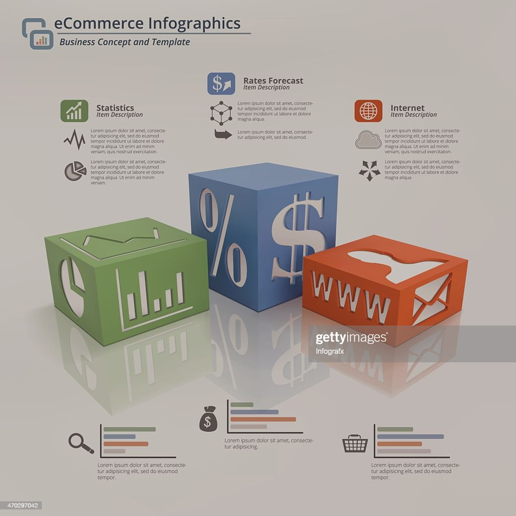 eCommerce Infographic Background Concept
