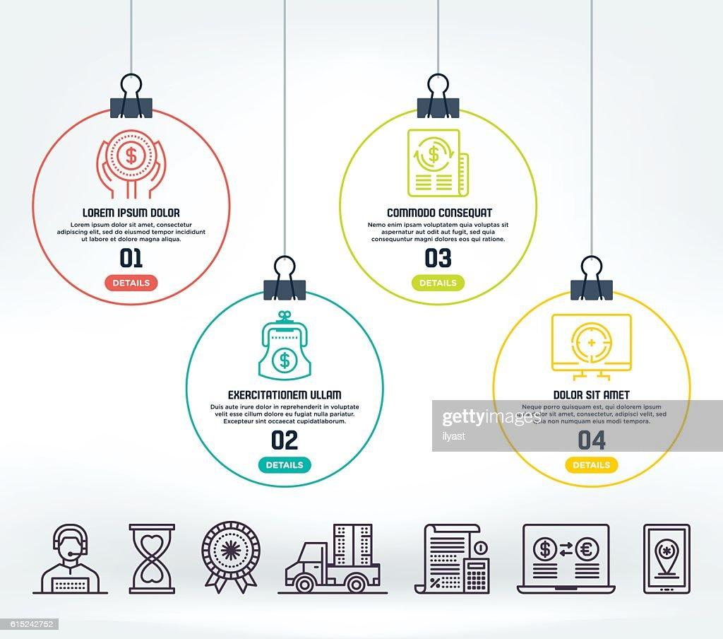 E-Commerce Infographic : stock illustration