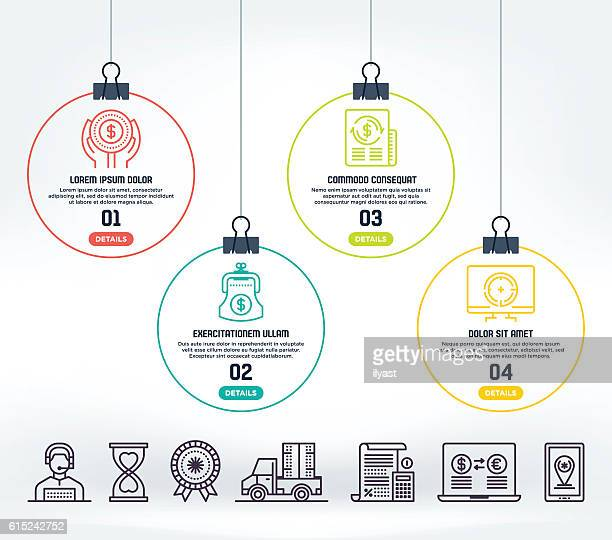 e-commerce infographic - order stock illustrations, clip art, cartoons, & icons
